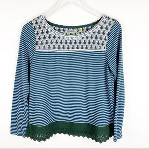 Anthropologie Little Yellow Button The Shiloh tee